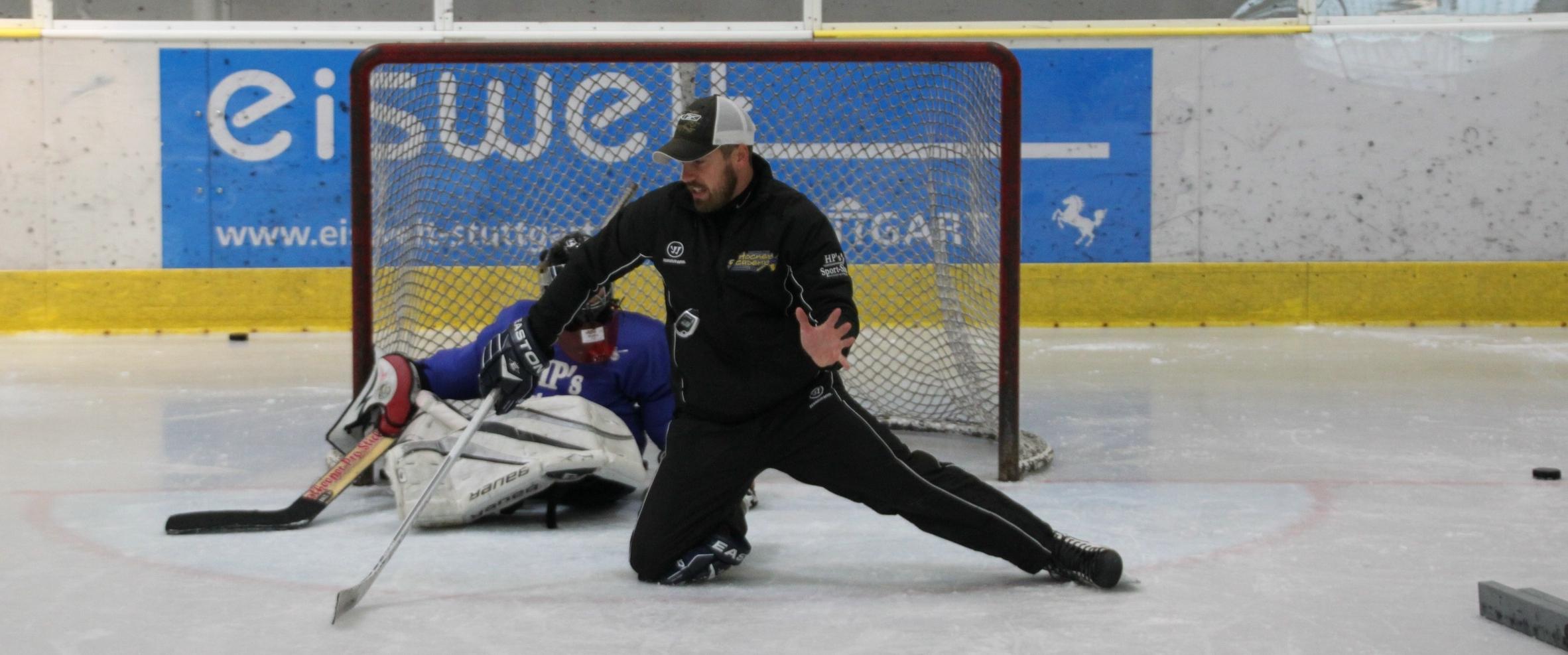 Dušan Strharský on ice