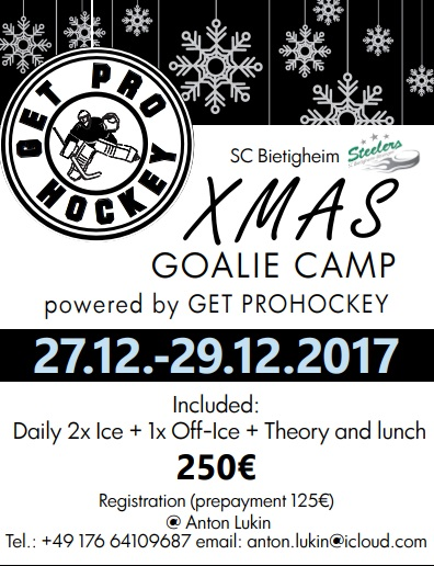 Xmas goalie camp 27.12-29.12.2017